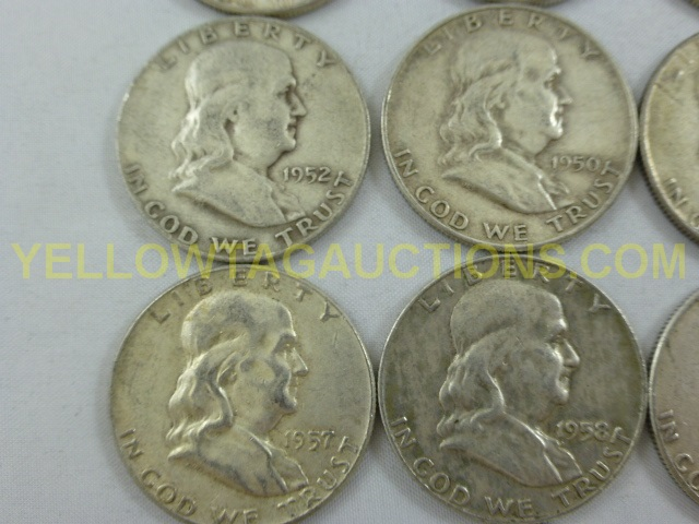 Lot of 10 1948-1964 Mixed Dates SILVER Roosevelt All Dimes Are 90/% Silver